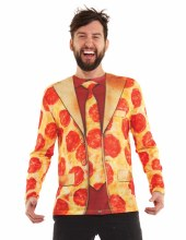 FauxReal Pizza Suit Shirt L