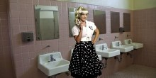 Rental Fifties Girl Polka Dot Costume