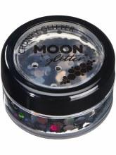 Moon Glitter Chunky Holo Black 5g