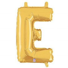 "14"" Gold Juniorloon Letter E"