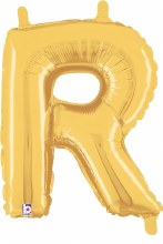 "14"" Gold Juniorloon Letter R"