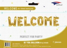 """AirFill Welcome ~ 16"""" Gold Letter Banner Kit"""