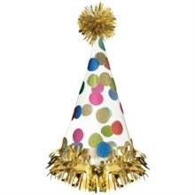 Happy Dots Cone Hat