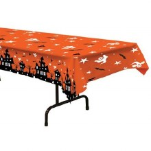 Haunted House Plastic Rectangular Tablecover