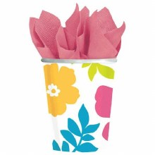 Hibiscus White Cup 9oz 25ct