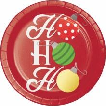 """Ho Ho Ho ~ 8 Pack/7"""" Plates"""