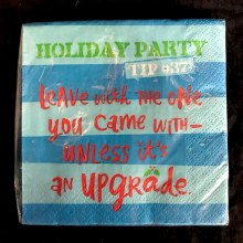Holiday Party Tip #37 Beverage Napkins ~ 16 Pack