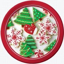"Holiday Treats Plates ~ 8 Pack/7"""