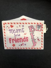 Valentines Felt Envelope Meant to Be BFF