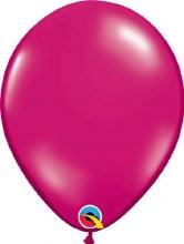 Latex Balloon 11in Jwl Magenta