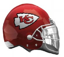 "Kansas City Cheifs Helmet ~ 21"""