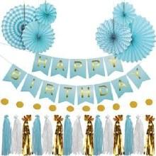 Birthday Garland Kit Blue
