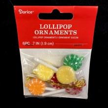 Tiny Lollipop Ornaments ~ 6 Pack