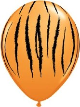 Latex Balloon 11in M Jgl Tiger
