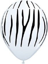 Latex Balloon 11in M Jgl Zebra