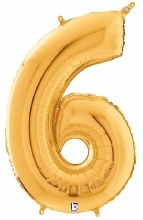 "Megaloon Gold Number ""6"""