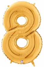 "Megaloon Gold Number ""8"""