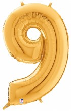 "Megaloon Gold Number ""9"""