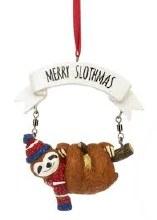 Merry Slothmas Ornament