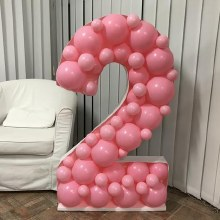 Mosaic Frame With Balloons #2