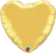 """Heart ~ Gold 18"""""""