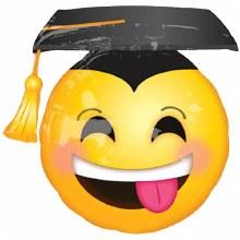 "Mylr 26"" Smiley Grad OS Emoji"