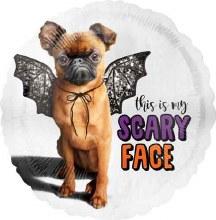 17'' Scary face pug