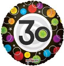 "18"" Birthday Dots ""30"""
