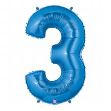 "40"" Megaloon Blue Number 3"