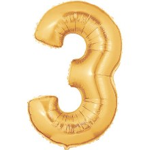 "Megaloon Gold Number ""3"""