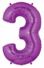 "40"" Megaloon Purple Number 3"