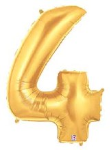 "Megaloon Gold Number ""4"""