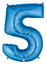 "40"" Megaloon Blue Number 5"