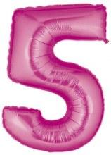 "40"" Megaloon Pink Number 5"
