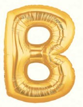 "Megaloon Gold Letter ""B"""
