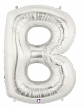 """40"""" Megaloon Silver Letter B"""