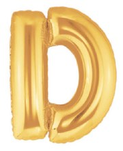 "40"" Megaloon Gold Letter D"