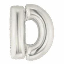 """40"""" Megaloon Silver Letter D"""