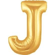 """40"""" Megaloon Gold Letter J"""