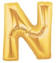 """40"""" Megaloon Gold Letter N"""