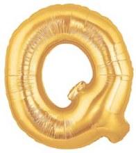 "40"" Megaloon Gold Letter Q"