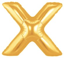 "Megaloon Gold Letter ""X"""