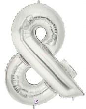 "40"" Megaloon Silver Symbol &"