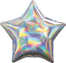 "Star ~ Iridescent Silver ~ 19"""