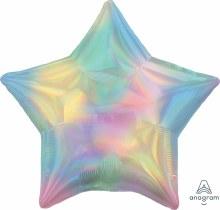 "Star ~ Iridescent Pastel Rainbow ~ 19"""
