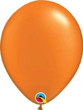 Latex Balloon 11in Prl Orange