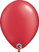 Latex Balloon 11in Pearl Red