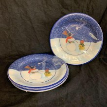 Frosty and Son Dinner Plates