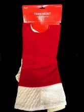 "Red Tree Skirt ~ 48"""