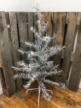 Retro Silver Tree w/ Posable Branches ~ 4ft